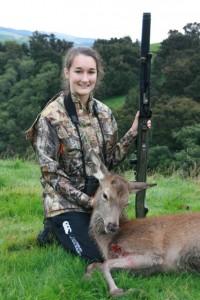 Sarah's first hunt